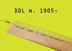 Tagliare-lungo-la-linea-tratteggiata (designnostop) Tags: design no milano postcard stop politecnico facoltà ddl gelmini