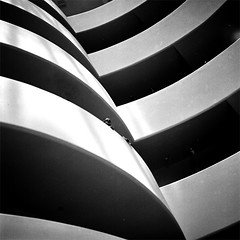 Edges of illusion (About a Majordomo) Tags: nyc trip white newyork black lines museum architecture contemporary dream hasselblad illusion guggenheim wright viaggio architettura bordi edges sogno novecento linee contemporanea