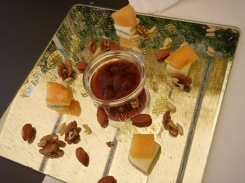 Kumparička goat cheese and melon served with wild plum jam