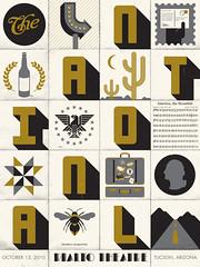 The National poster (Twelve Car Pileup) Tags: typography graphicdesign vectorart tucson roadtrip rialtotheatre americana thenational screenprinted burlesqueofnorthamerica barnquilt