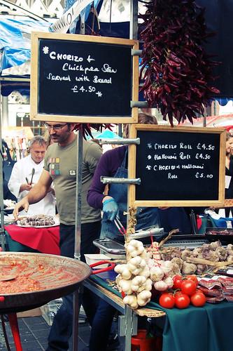 Spitalfields food market