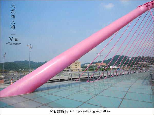 【大坑情人橋】新的台中約會景點~浪漫粉紅色情人橋11