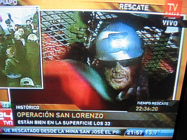 Thumb Fotos del rescate del Jefe Luis Urzúa, el último minero en salir