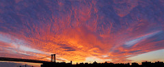 (Vitaliy P.) Tags: new york city nyc bridge blue sunset red sky panorama macro beautiful yellow brooklyn clouds lens fire nikon manhattan silhouettes dramatic micro williamsburg gothamist 60mm stitched f28 d80 vetrorama vitaliyp gettysubmitted