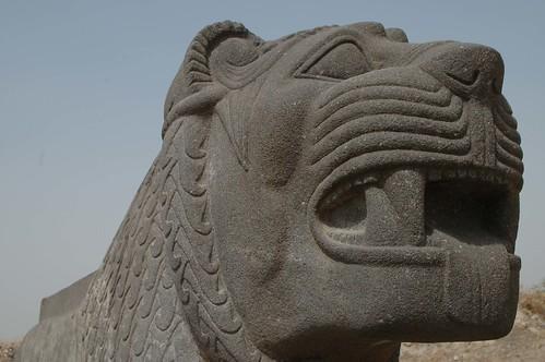 Tell Ain Dara Temple c.1300 Early Iron Age Syro-Hittite Lion Basalt Detail (4e)