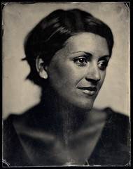 Maggie Carson Romano (Dan Carrillo) Tags: portrait blackandwhite 8x10 ambrotype largeformat alternativeprocess wetplatecollodion maggiecarsonromano wollensakvitaxportraitlens modifiedpetzval deardorff11x14studiocamerawreducing8x10back
