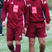 Ex Hibs Legends Darren Jackson and Andy Walker
