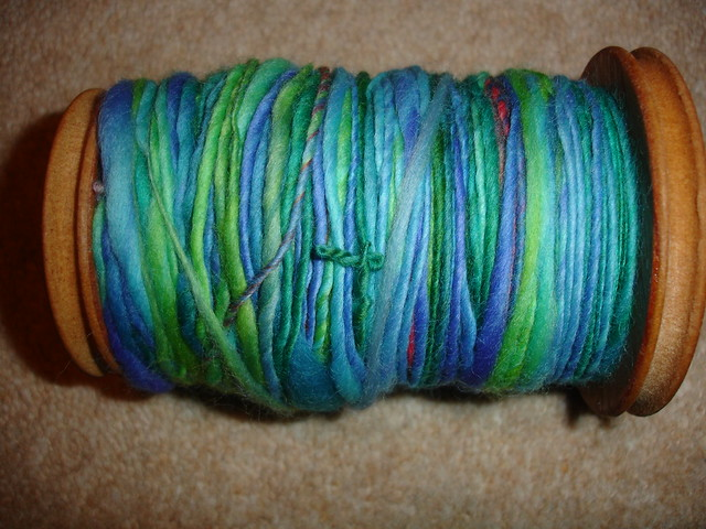 first handspun from roving