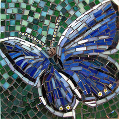 Butterfly for Lin Schorr's DWOB Benefit (Virginia Mosaics) Tags: butterfly mosaic doctorswithoutborders