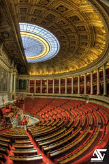 Hémicycle verticale (A.G. Photographe) Tags: fish france french nikon fisheye national nikkor français hdr assembly anto nationale assemblée xiii assembléenationale 16mmfisheye d700 frenchnationalassembly antoxiii hdr9raw