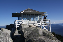 top of the moutain hut