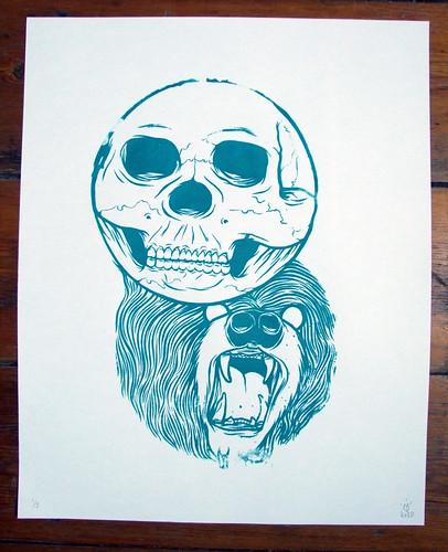 Skullbear Screenprint