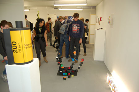 Exhibition of Chelsea art school graphic students reponse to Barney Bubbles show