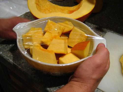 Pumpkin, cubed