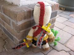 KratosSackboy 037 (Ami Amour) Tags: doll crochet amigurumi medusa kratos sackboy