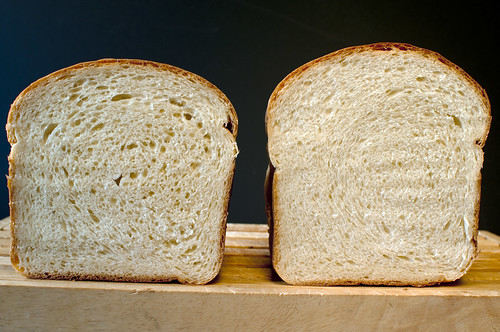 5 Reasons I Use a Bread Machine -- comparison between hand mixed and bread machine mixed