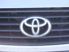 toyota badge on a car (Limerick IT Digital Photography) Tags: daylight crest grill badge ellipse toyota
