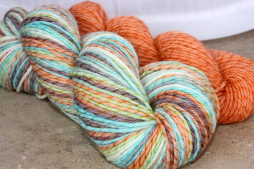 ~Retro Metro~ Licorice Twist Merino w/ trim 5.8 ounces