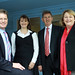 Ted Baillieu, Karen Dickson, Peter Ryan and Christine Fyffe at YVPP headquarters in Yarra Glen