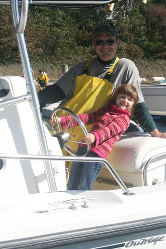 Ramona and Daddy on boat