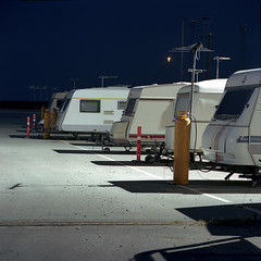 Caravans (claus peder) Tags: 120 6x6 film night analog denmark nc kodak release tripod cable ps bronica 400 portra aarhus c41 180mm sqai zenza zenzanon