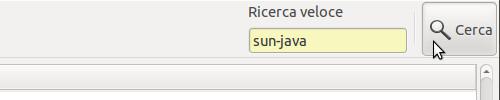 """Figura 4 - Stringa """"sun-java"""" nel box di ricerca pacchetti;"""