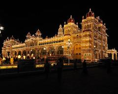 A Million Bulbs (ArvinnArvin) Tags: old light india beauty architecture digital nikon arches palace bulbs karnataka majestic mysore 1224 maharaja d300 wodeyar dassara