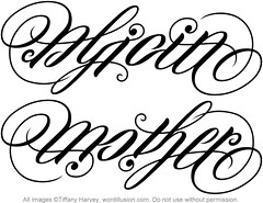 """Alicia"" & ""Mother"" Ambigram"