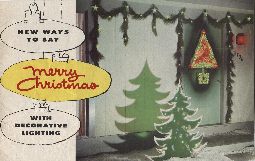 GE 1957 Christmas Light Idea booklet