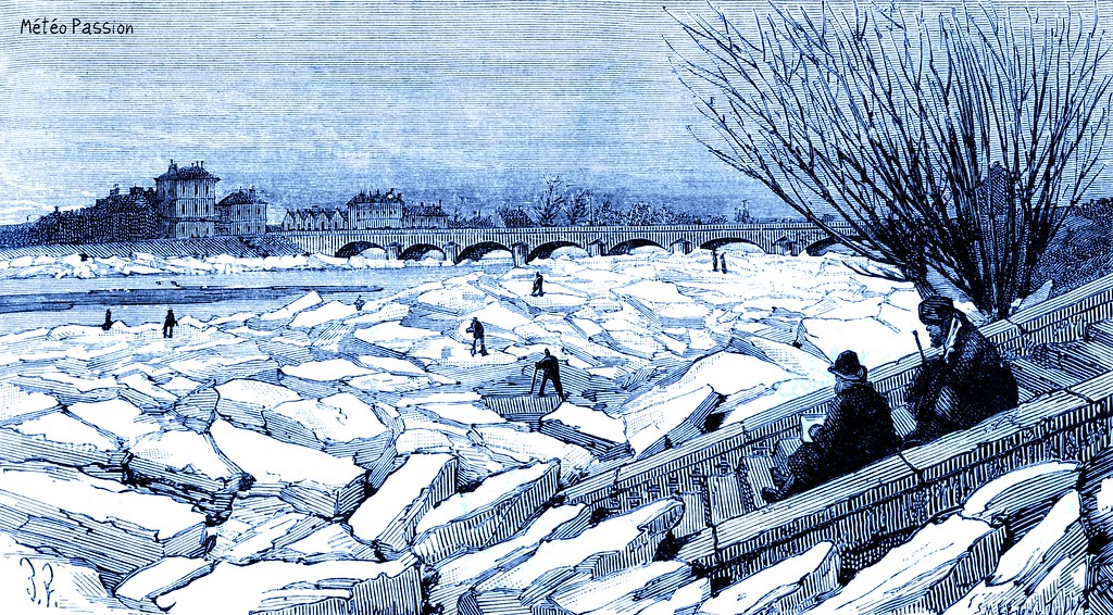 glaces en Loire à Saumur le 20 janvier 1880