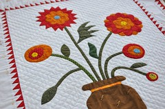 302. (Lynn Carson Harris) Tags: quilting stitching applique handquilting