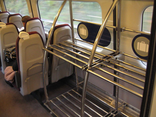 Luggage space on Charter Train