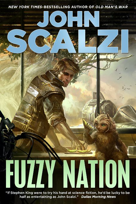 Fuzzy Nation by John Sclazi, cover illustration by Kekai Kotaki, Tor 2011