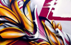 white drips (mrzero) Tags: graffiti hungary gallery style exhibition canvas spraypaint zero cfs mrzero coloredeffects