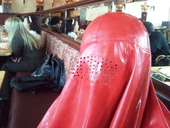 I am done, thank you (latexladyll) Tags: public fetish shopping rubber latex burqa