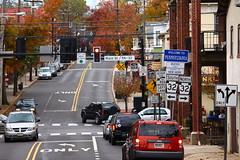 Welcome To Pennsylvania (momcat14c) Tags: bridge november autumn fall newjersey pennsylvania nj riverbank newhope buckscounty 2010 delawareriver lambertville hunterdoncounty canon500d pedestrianwalkway canont1ieosrebel