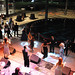 Broome Library's Plaza filled with dancing and music at the Ninth-Annual President's Dinner.