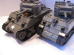 "Sherman M4A1(75) front hull design (new and old). (""Rumrunner"") Tags: tank lego wwii american ww2 armour worldwar2 allies m4a1"