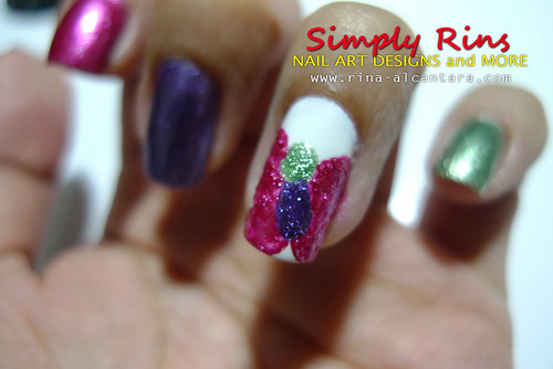 Nail Art Caronia Butterfly 03
