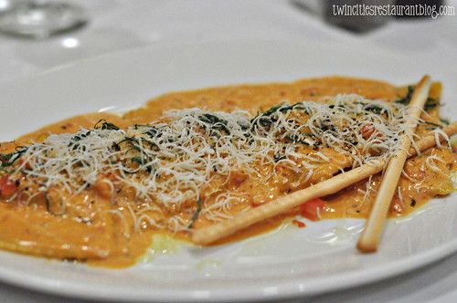 Lobster Ravioli at Il Premio at Mystic Lake ~ Prior Lake, MN