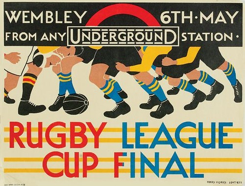 Rugby League Cup Final, 1933; [estimate:  $700 - $1,000]