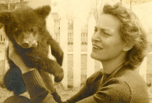 G-ma, with bear cub