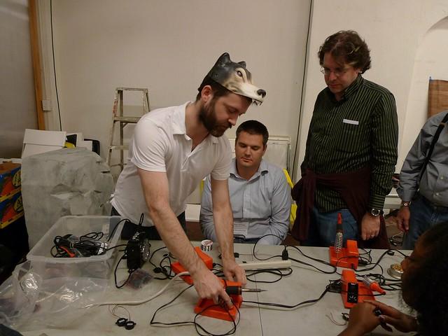 Mark Allen solders on