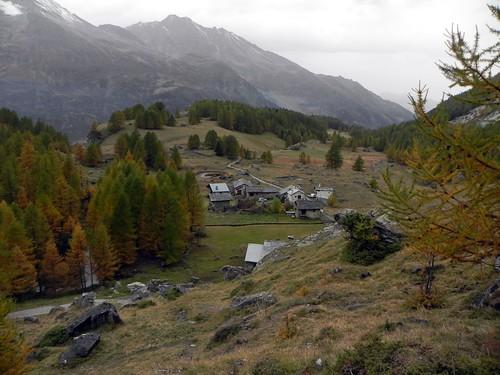Le village du Monal vue par-dessus