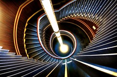 Light Beam Stairs are Warm (Semi-detached) Tags: road new light music beautiful architecture modern stairs spiral march scotland hall edinburgh theatre scottish beam usher 2009 lothian semidetached