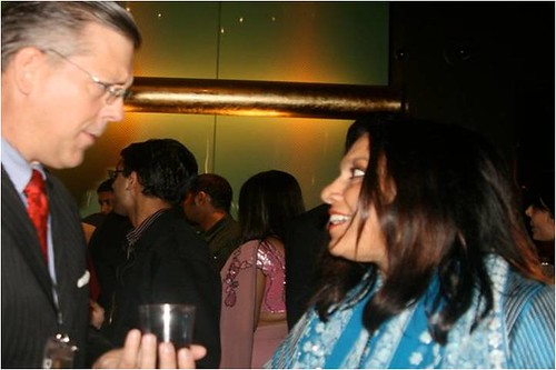 Jim Luce with Mira Nair