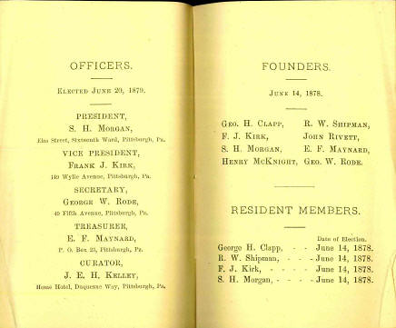 WPNS 1878 Booklet officers