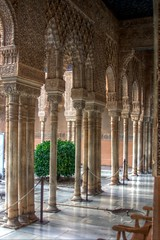 Colonnade (pbr42) Tags: architecture spain columns palace andalucia alhambra granada hdr islamic qtpfsgui
