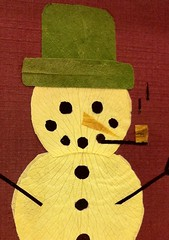 Mr. Snowman (Made of Flowers) Tags: dahlia flowers trees winter lighthouse snow mountains flower art nature pine barn river garden botanical cards japanese cow snowman lily natural crafts craft nasa petal valley frame myrtle hydrangea etsy creeping iss driedflowers pressed pressedflowers oshibana