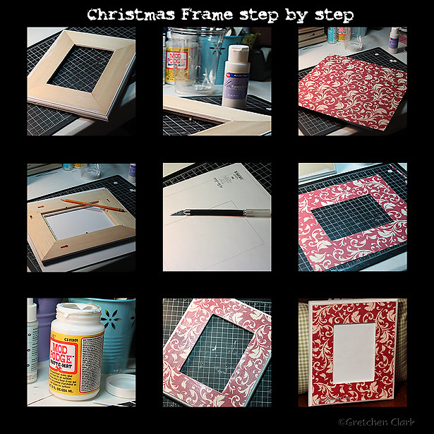 Christmas Frame steps